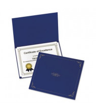 "Oxford 9-3/4"" x 12-1/2"" 5-Pack Certificate Holder, Dark Blue"