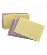 "Oxford 4"" x 6"", 100-Cards, Assorted Colors, Ruled Index Cards"
