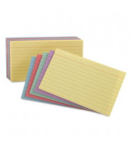 "Oxford 5"" x 8"", 100-Cards, Assorted Colors, Ruled Index Cards"