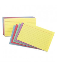 "Oxford 3"" x 5"", 100-Cards, Assorted Colors, Ruled Index Cards"
