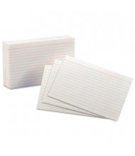 "Oxford 4"" x 6"", 100-Cards, White, Ruled Index Cards"