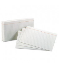 "Oxford 5"" x 8"", 100-Cards, White, Ruled Index Cards"