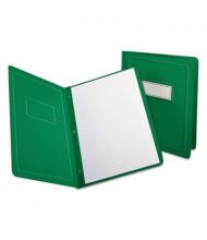 "Oxford 1/2"" Capacity 8-1/2"" x 11"" Prong Fastener Panel & Border Cover, Green, 25/Box"