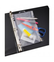 "Oxford 6"" x 9-1/2"" Zippered Ring Binder Pocket, Clear/White"