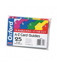 "Oxford 1/5 Tab 4"" x 6"" Alphabetic Index Card Guides, Assorted, 1 Set"