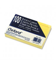 "Oxford 4"" x 6"", 100-Cards, Canary, Ruled Index Cards"