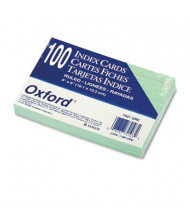 "Oxford 4"" x 6"", 100-Cards, Green, Ruled Index Cards"