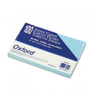 "Oxford 5"" x 8"", 100-Cards, Blue, Unruled Index Cards"