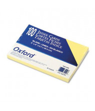 "Oxford 5"" x 8"", 100-Cards, Canary, Unruled Index Cards"