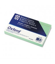 "Oxford 5"" x 8"", 100-Cards, Green, Ruled Index Cards"