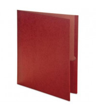 "Oxford Earthwise 100-Sheet 8-1/2"" x 11"" Two-Pocket Folder, Red, 25/Box"
