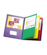 "Oxford 8-1/2"" x 11"" Elegant Eight-Pocket Portfolio, Assorted"