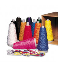 Pacon 2 oz Trait-Tex Double Weight Yarn Cones, Assorted Colors, 12/Box