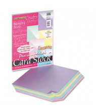 """Pacon 8-1/2"""" x 11"""", 65lb, 50-Sheets, Assorted Pastel Pearl Colors Card Stock"""