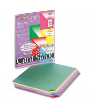"""Pacon 8-1/2"""" x 11"""", 65lb, 50-Sheets, Assorted Bright Pearl Colors Card Stock"""