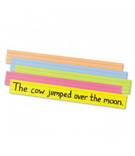 "Pacon 24"" x 3"" Sentence Strips, Assorted Bright, 100/Pack"
