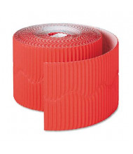 """Pacon Bordette 2-1/4"""" x 50 ft. Flame Red Decorative Border Roll"""