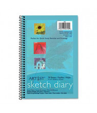 "Pacon Art1st 6"" x 9"", 70-Sheet, White Sketch Diary"