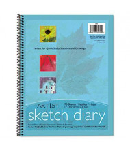 "Pacon Art1st 8-1/2"" x 11"", 60lb, 70-Sheet, White Sketch Diary"