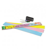 "Pacon 24"" x 3"" Dry Erase Sentence Strips, Assorted, 30/Pack"