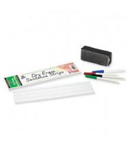 "Pacon 12"" x 3"" Dry Erase Sentence Strips, White, 30/Pack"