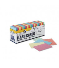 "Pacon 2"" x 3"" Blank Flash Card Dispenser Box, Assorted, 1000/Box"