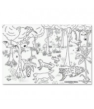 "Pacon 72"" x 48"" Rain Forest Learning Walls Paper"