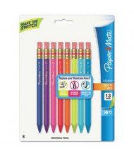 Paper Mate Mates #2 1.3 mm Assorted Colors Mechanical Pencils, 8-Pack