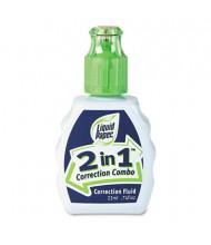 Paper Mate 2-in-1 Correction Combo Fluid, 22 ml Bottle, White