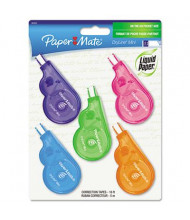 "Paper Mate DryLine Grip Mini 1/5"" x 197"" Correction Tape, White, 5-Pack"