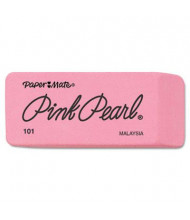 Paper Mate Pink Pearl Large Eraser, 12-Pack