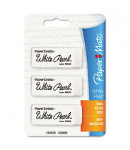Paper Mate White Pearl Eraser, 3-Pack