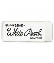 Paper Mate White Pearl Eraser, 12-Pack