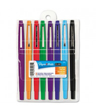 Paper Mate Flair Medium Stick Porous Point Pens, Assorted, 8-Pack
