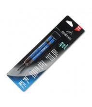 Parker Refill for Retractable Gel Roller Ball Pens, Blue Ink, 2-Pack