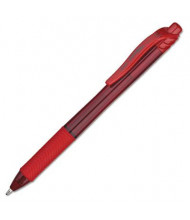Pentel EnerGel X 1 mm Bold Retractable Roller Ball Pens, Red, 12-Pack