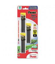 Pentel Super Hi-Polymer 3-Pack 0.9 mm Black Lead Refills, 30-Leads