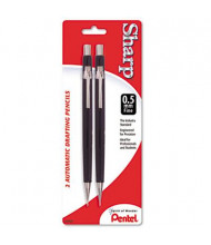 Pentel Sharp #2 0.5 mm Black Automatic Mechanical Pencil, 2-Pack