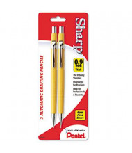 Pentel Sharp #2 0.9 mm Yellow Automatic Mechanical Pencil, 2-Pack
