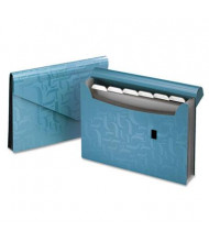 "Pendaflex Essentials 7-Pocket 13-1/2"" x 9"" Expanding Poly Closure File, Blue"