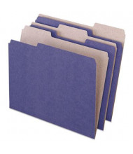 Pendaflex Earthwise 1/3 Cut Tab Letter File Folder, Violet, 100/Box