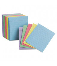 "Oxford 3"" x 2-1/2"", 200-Cards, Assorted Colors, Mini Ruled Index Cards"
