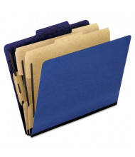 Pendaflex 6-Section Letter 20-Point Pressguard Classification Folders, Blue, 10/Box