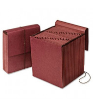 Pendaflex 31-Pocket Letter Vertical Indexed Expanding Wallet with Closure, Redrope