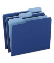 Pendaflex 1/3 Cut Tab Letter File Folder, Navy Blue, 100/Box