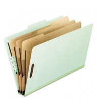 Pendaflex 8-Section Letter Pressboard 25-Point Classification Folders, Green, 10/Box