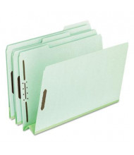 "Pendaflex Legal 3"" Expanding 1/3 Cut Tab 2-Fastener Pressboard Folder, Green, 25/Box"