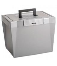 "Pendaflex 10-1/4"" D Letter Portable File Storage Box, Steel Gray"