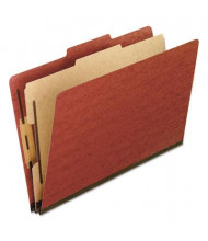 Pendaflex 4-Section Legal Pressboard 25-Point Classification Folders, Red, 10/Box