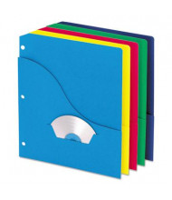 "Pendaflex 8-1/2"" x 11"" 3-Hole Punched Slash Pocket Project Folders, Assorted, 10/Pack"